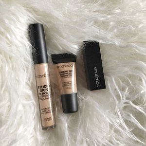 Smashbox: foundation, concealer, and lipstick